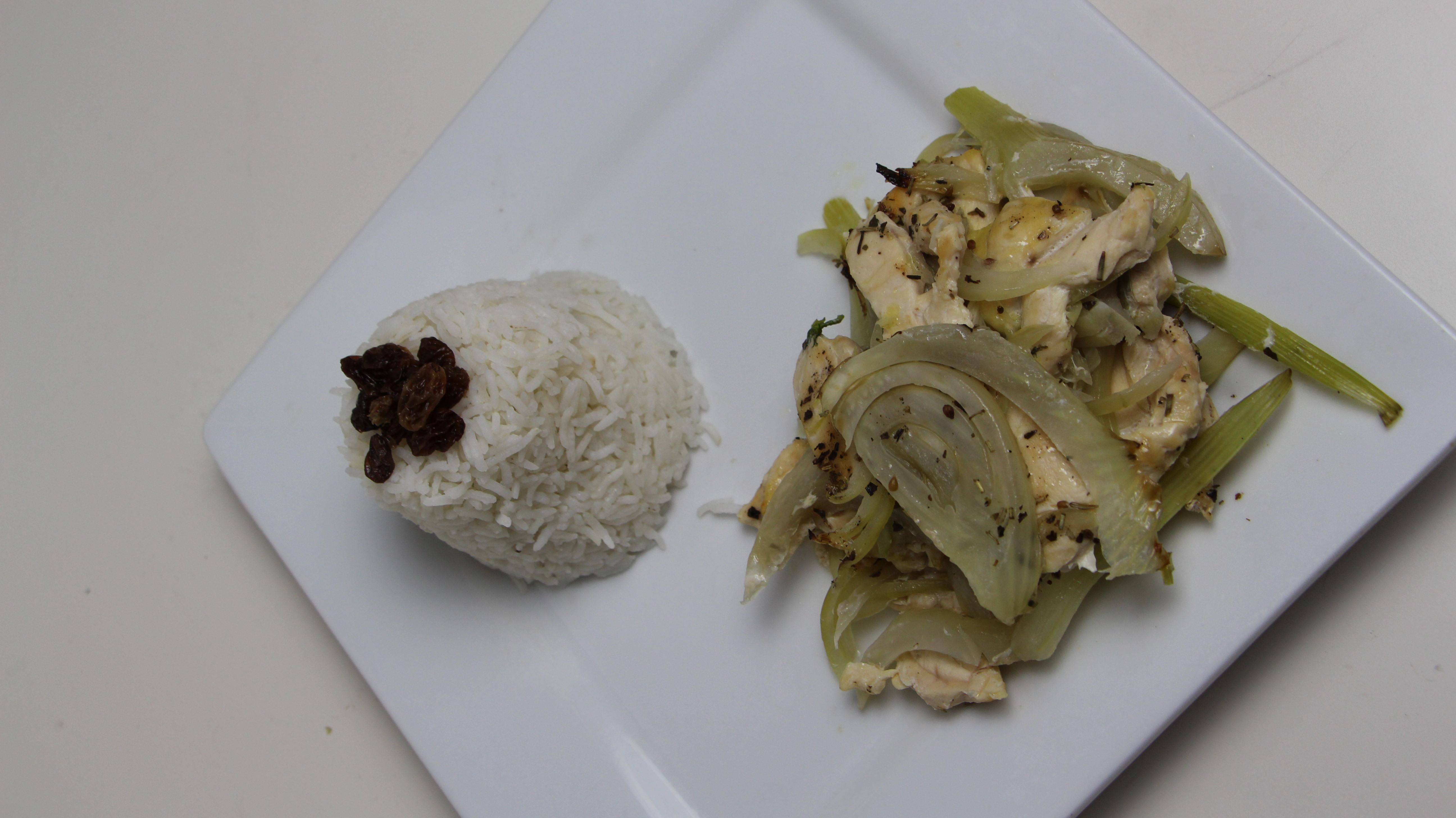 Recette diététique : Poulet anisé au fenouil