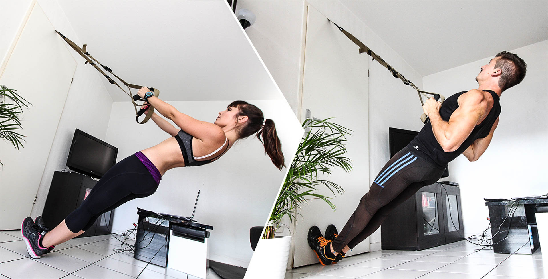 Rowing suspendu : exercice de dos avec le Trx