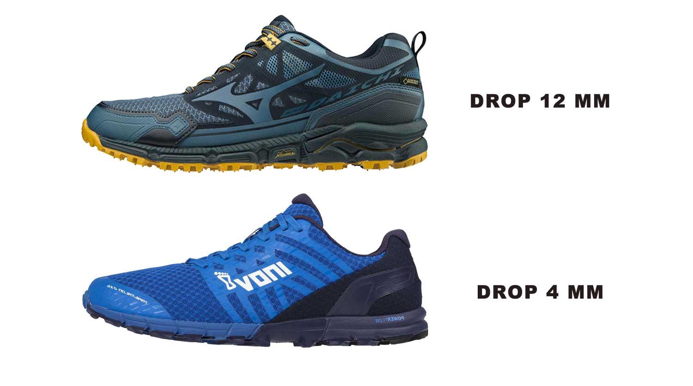 choix drop chaussures de trail