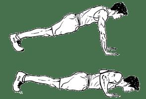 pompe bras long du corps