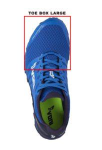 toe box chaussure trail
