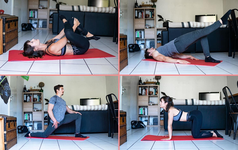 Exercices contre le mal de dos | 11 postures – Renforcement et Étirements