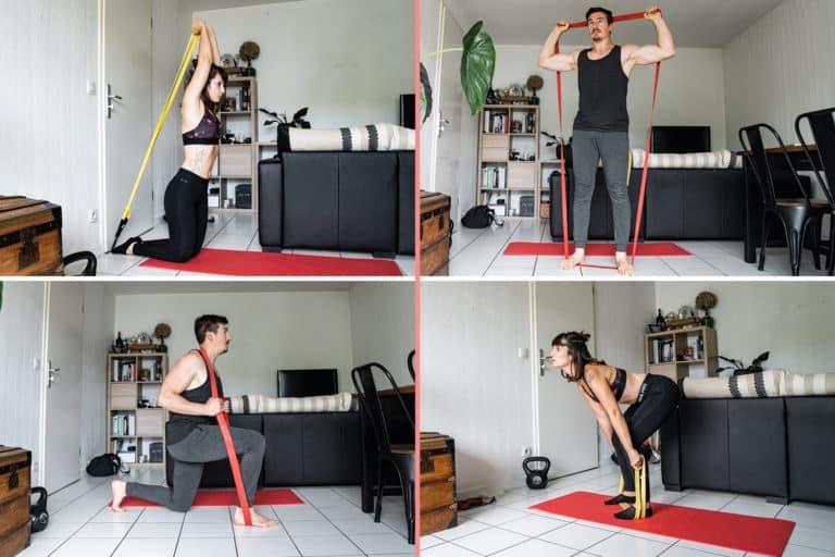 Exercices avec une bande élastique – Les 13 meilleurs mouvements