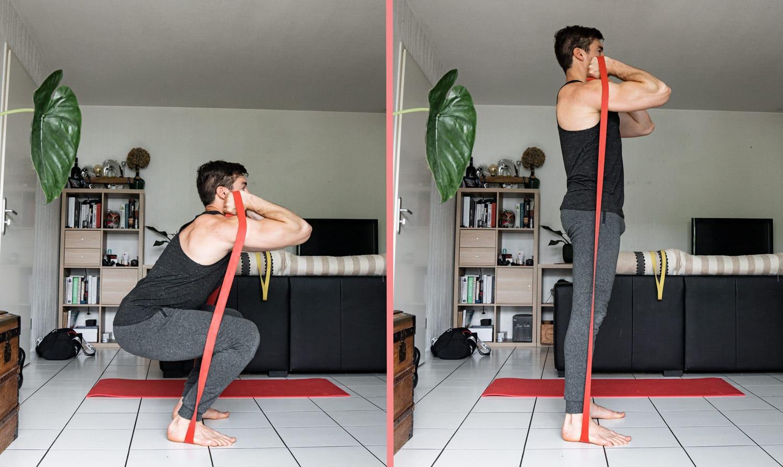 front squat avec élastique